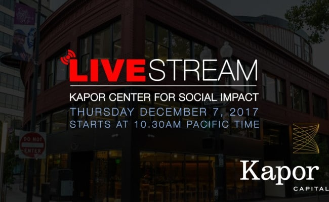Kapor Center Oakland Live Stream